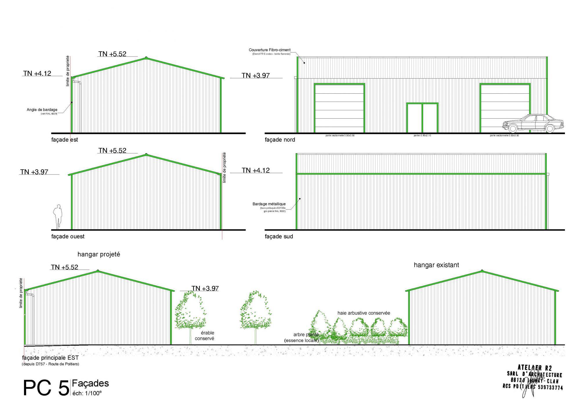 construction hangar vendeuvre du poitou 86 atelier d 39 architecture jaunay marigny 86. Black Bedroom Furniture Sets. Home Design Ideas